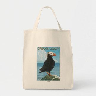 Oregon Coast Tufted Puffin Tote Bag
