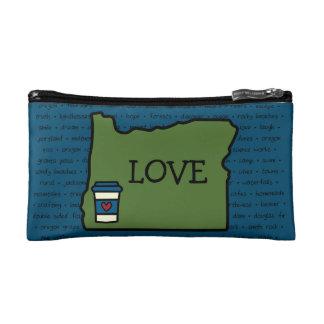 Oregon & Coffee Makeup Bag