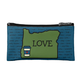 Oregon & Coffee Makeup Bags