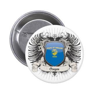 Oregon Crest 6 Cm Round Badge