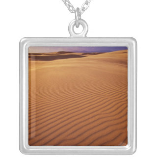 Oregon Dunes National Recreation Area, Oregon at Silver Plated Necklace