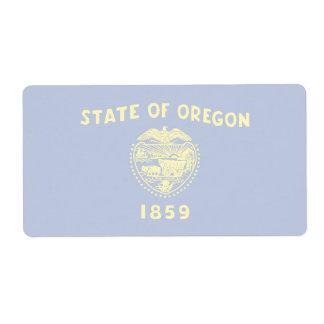Oregon Faint Flag Shipping Label