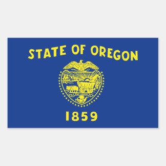 Oregon Flag Rectangular Sticker