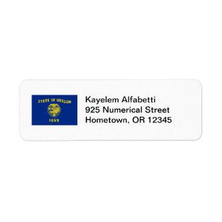 Oregon Flag Return Address Label
