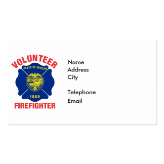 Oregon Flag Volunteer Firefighter Cross Business Card Template