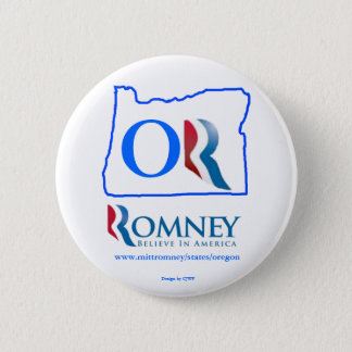 Oregon for Mitt Romney button 2