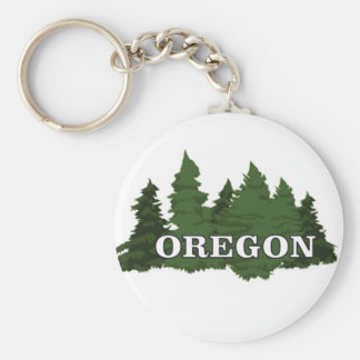 Oregon Forest Key Ring