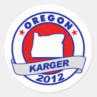 Oregon Fred Karger Classic Round Sticker