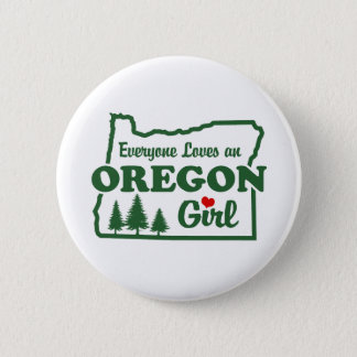 Oregon Girl 6 Cm Round Badge