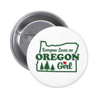 Oregon Girl 6 Cm Round Badge