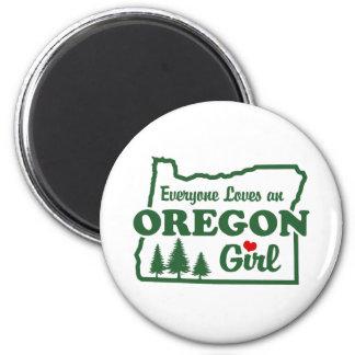 Oregon Girl 6 Cm Round Magnet