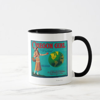 Oregon Girl Apple Crate LabelElgin, OR Mug