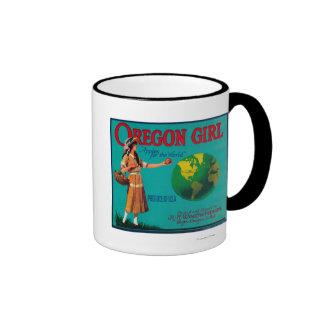 Oregon Girl Apple Crate LabelElgin, OR Coffee Mug
