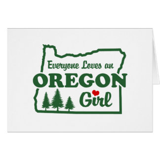 Oregon Girl Greeting Card