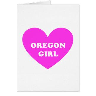 Oregon Girl Greeting Card