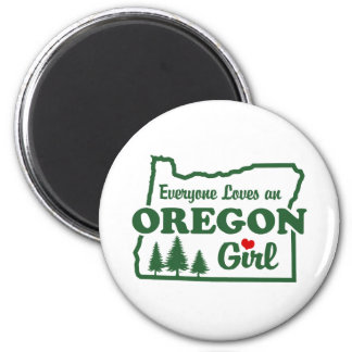 Oregon Girl Magnet