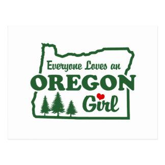 Oregon Girl Postcard