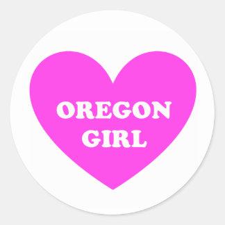 Oregon Girl Round Sticker