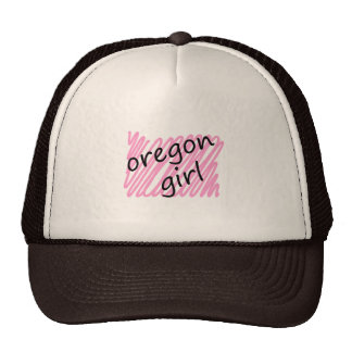 Oregon Girl with Scribbled Oregon Map Cap