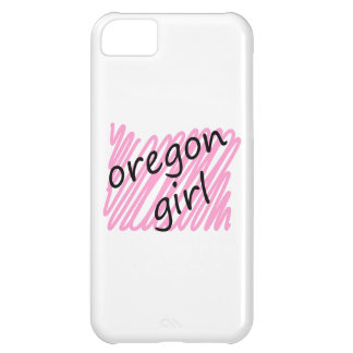 Oregon Girl with Scribbled Oregon Map Case For iPhone 5C
