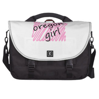 Oregon Girl with Scribbled Oregon Map Commuter Bags