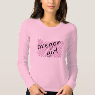 Oregon Girl with Scribbled Oregon Map Shirts