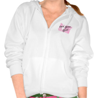 Oregon Girl with Scribbled Oregon Map Hooded Sweatshirts