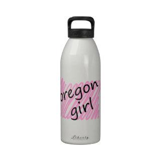 Oregon Girl with Scribbled Oregon Map Drinking Bottles