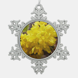 Oregon Grape Flowers Yellow Wildflowers Pewter Snowflake Decoration
