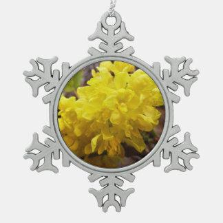 Oregon Grape Flowers Yellow Wildflowers Snowflake Pewter Christmas Ornament