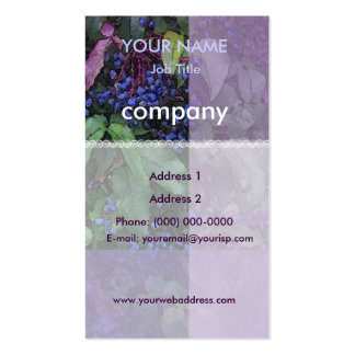Oregon Grape Harmony Profile Card Pack Of Standard Business Cards