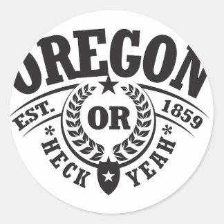 Oregon Heck Yeah Est 1859 Stickers