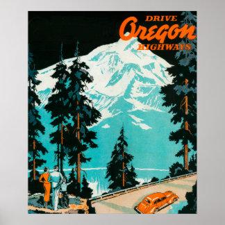 Oregon Highways Advertising Poster