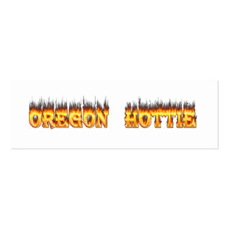 oregon hottie fire and flames pack of skinny business cards