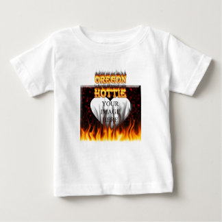 Oregon Hottie fire and red marble heart. Tee Shirts