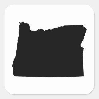 Oregon in Black and White Square Sticker