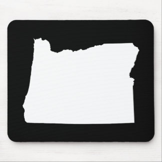 Oregon in White and Black Mouse Mat