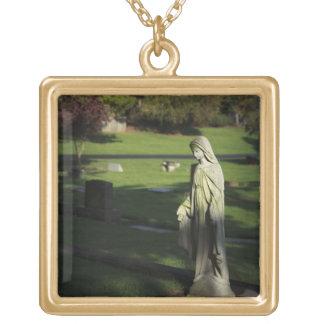 Oregon, Lake Oswego, Oswego Pioneer Cemetery Gold Plated Necklace