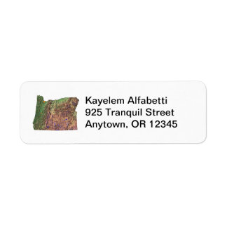 Oregon Map Return Address Label