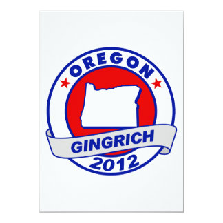 Oregon Newt Gingrich Custom Announcement