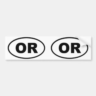 Oregon OR oval Bumper Sticker