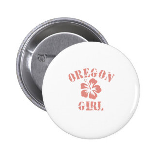 Oregon Pink Girl Pinback Buttons