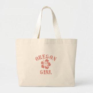 Oregon Pink Girl Tote Bags