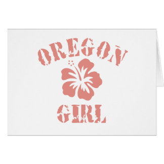 Oregon Pink Girl Greeting Card