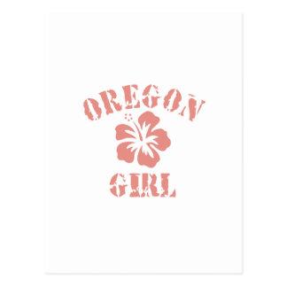 Oregon Pink Girl Postcards