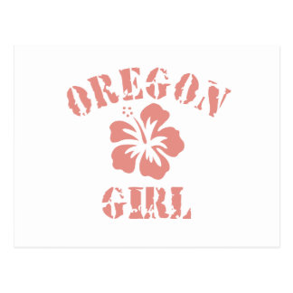 Oregon Pink Girl Postcard