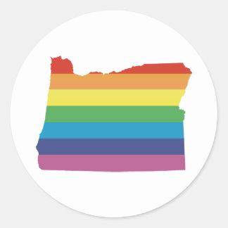 oregon pride. classic round sticker