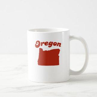 OREGON Red State Basic White Mug