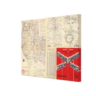 Oregon road map canvas print