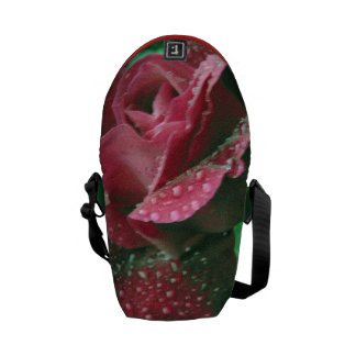 Oregon rose covered in raindrops commuter bags